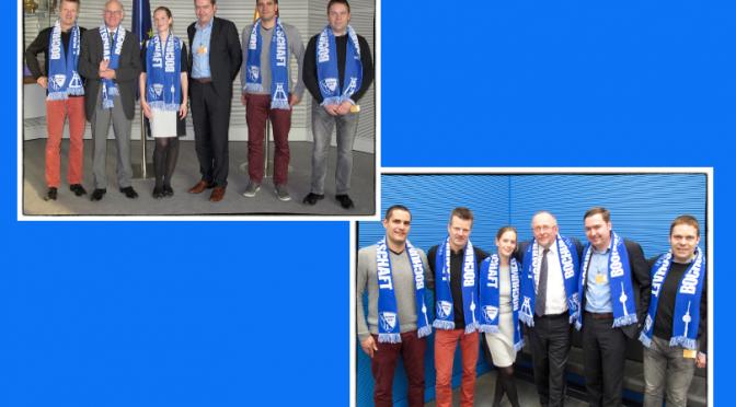 Bochumer Botschaft trifft die Bundestagsabgeordneten Norbert Lammert und Axel Schäfer